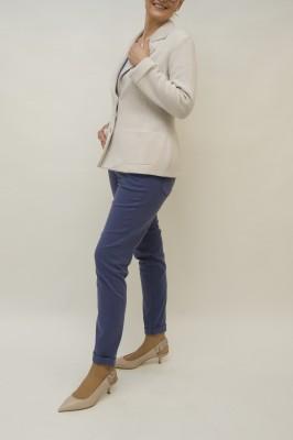 Agnona Strickblazer tailliert beige