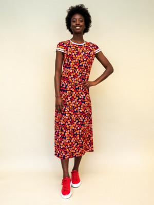 Marni Kleid mit Pop-Garden-Print aus Viskose-Sablé