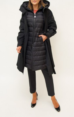 Moncler Mantel abknöpfbare Innenweste in schwarz