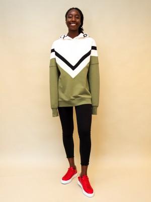 Philosophy Sweatshirt mit Kapuze mit Logoschriftzug in khaki