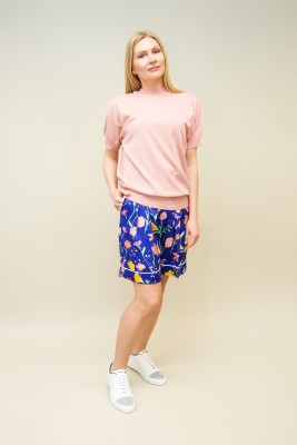 Plan C T-Shirt kurzarm Baumwolle rosé