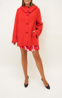 Marni Oversize Cashmere Jacke in leuchtendem rot