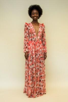 Elisabetta Franchi Kleid aus Seiden-Georgette mit Schmetterling-Print