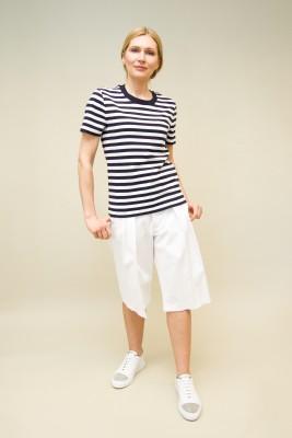 Moncler T-Shirt dunkelblau-weiß gestreift