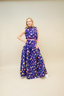 Plan C Kleid mit floralem Muster