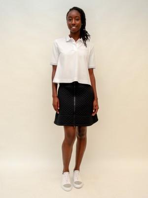 Moncler Poloshirt halbarm in weiß mit Designer-Logo