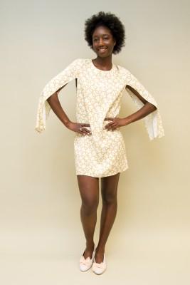 Elisabetta Franchi Kleid Design-print mit offenen Ärmel