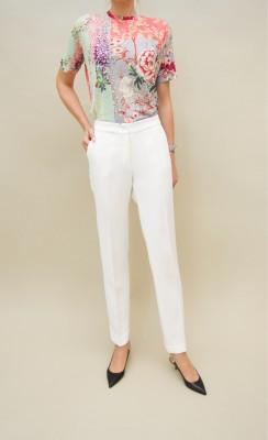 Etro schmal geschnittene Hose in zarten weiß-tönen