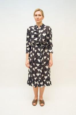 Elisabetta Franchi Kleid allover Herzchen