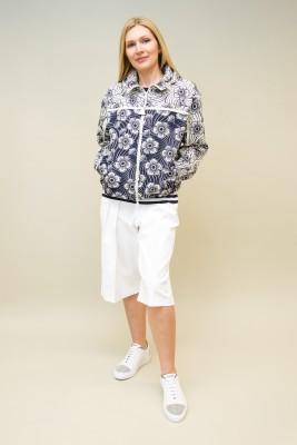 Moncler Jacke mit floralem Muster und Kapuze