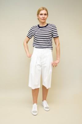 Plan C Bermuda-Shorts Baumwolle weiß
