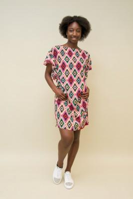 Maison Common Kleid geometrische Muster