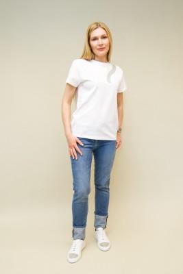 Fabiana Filippi T-Shirt mit Moulinedetail