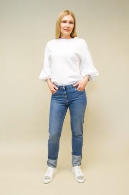 Fabiana Filippi Jeans mit breitem Umschlag