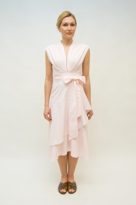 Sly010 Kleid Baumwollestretch in zartem Rosé