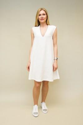 Fabiana Filippi Kleid aus gecrashtem Leinen