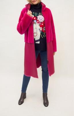 Emporio Armani Wendemantel Lammfell in kräftigem pink