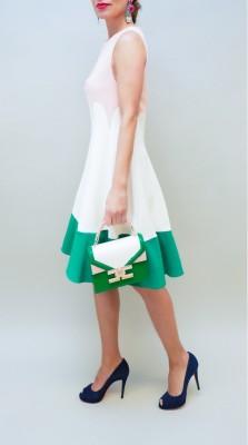 Elisabetta Franchi Kleid drei farbig