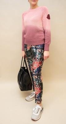 Moncler Hose mit floralem print in kräftigen farben