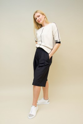 Plan C Bermuda-Shorts Baumwolle schwarz