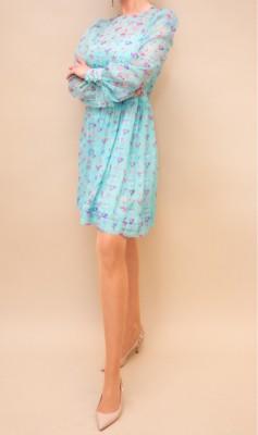 Emporio Armani luftiges Seidenkleid in zarten pastelltönen