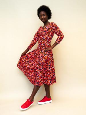 Marni Kleid aus Baumwollpopeline mit Pop-Garden-Print