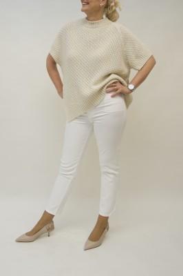 Agnona Kurzarm Pullover Asymmetrischer Schnitt