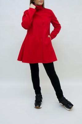 Emporio Armani Cashmere Mantel in leidenschaftlichem rot